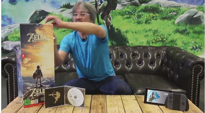 青沼英二さんによる『ゼルダの伝説 ブレス オブ ザ ワイルド リミテッドエディション』の開封動画が公開