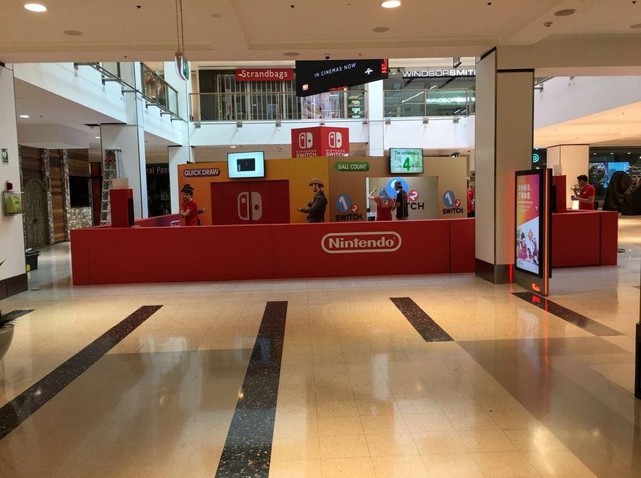 オーストラリアのショッピングモールに「Nintendo Switch」のデモブースが設置