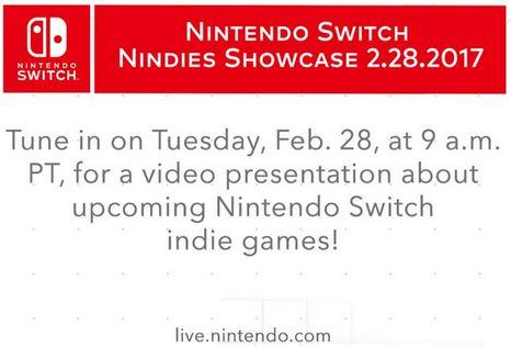 米任天堂、Nintendo Switchのインディーゲームに重点を置いた番組を2月28日に放送