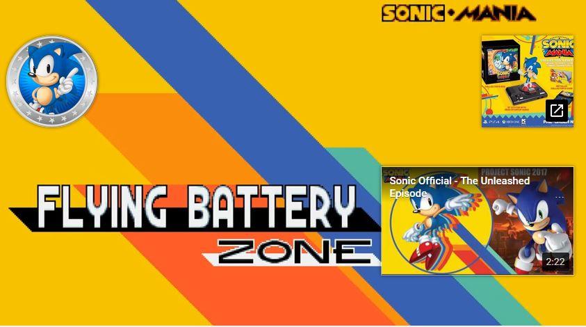 ソニックマニアの「Flying Battery Zone」のデモが公開
