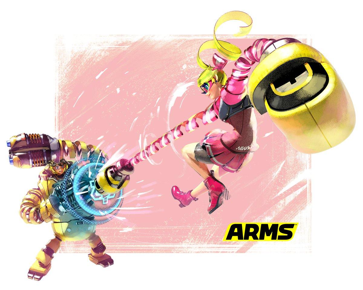 『ARMS』 メカニッカ VS リボンガールのアートワークが公開