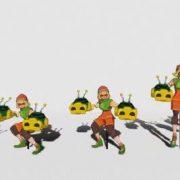 『ARMS』 ミェンミェンのアクションフィギュアの動画が公開