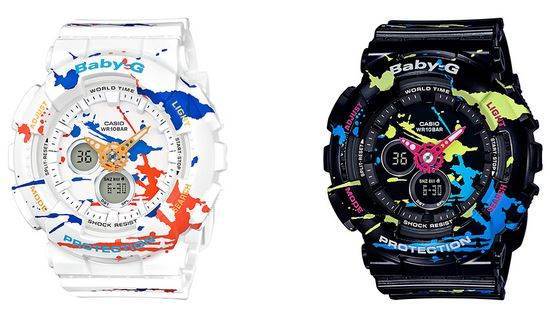 カシオからスプラトゥーン風の腕時計『スプラッター・パターン・シリーズ (BABY-G)』が発売決定!