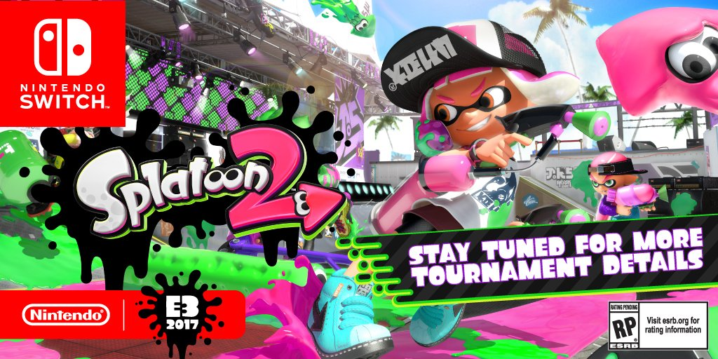今年6月に開催される「E32017」で『スプラトゥーン2』のトーナメントが開催決定!