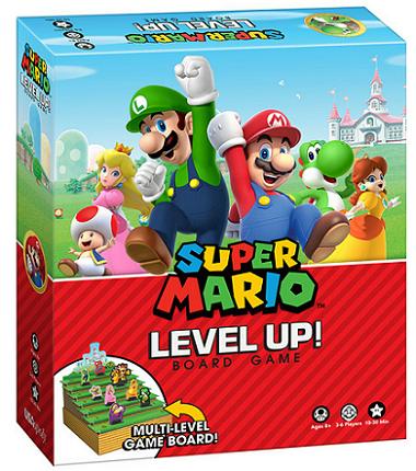 新しいマリオのボードゲーム『Super Mario Level Up! Board Game』がUSAopolyから北米・カナダ向けに発売!