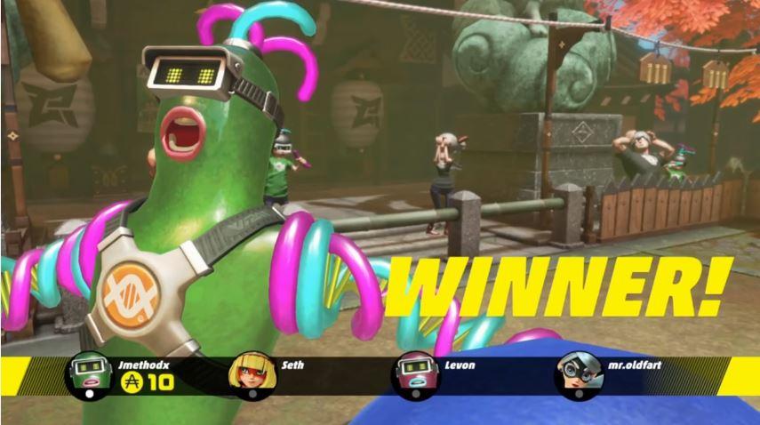『ARMS』 キャラクターの勝利モーションが公開!