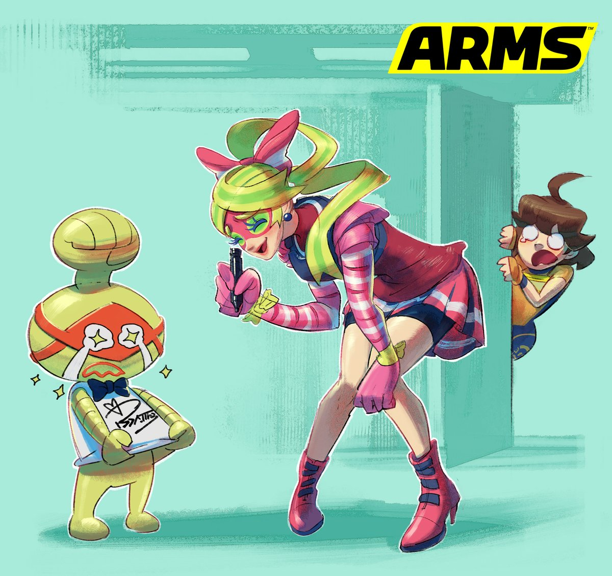 『ARMS』 バイト&バークとコブッシーのアートワークが公開