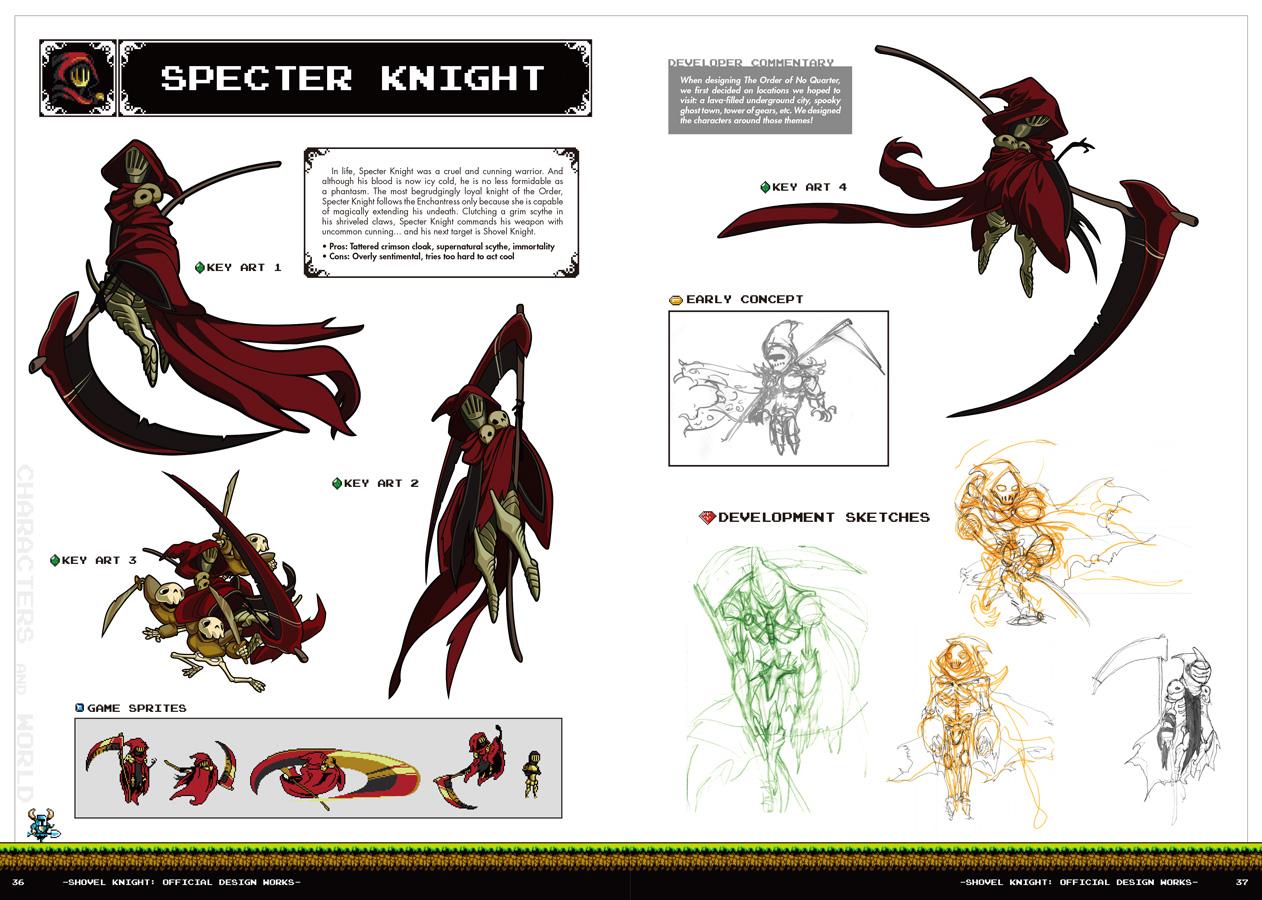 『Shovel Knight: Official Design Works』のスクリーンショットが複数枚公開!