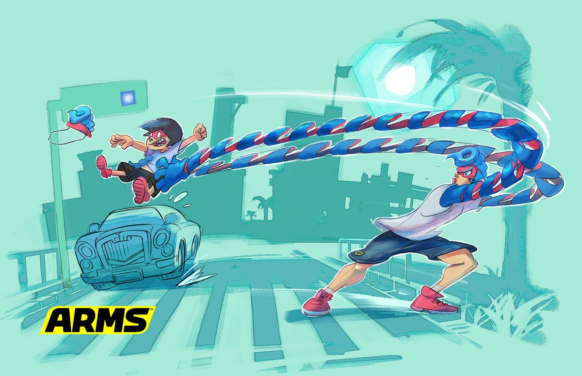 『ARMS』 スプリングマンのオフショットが公開!