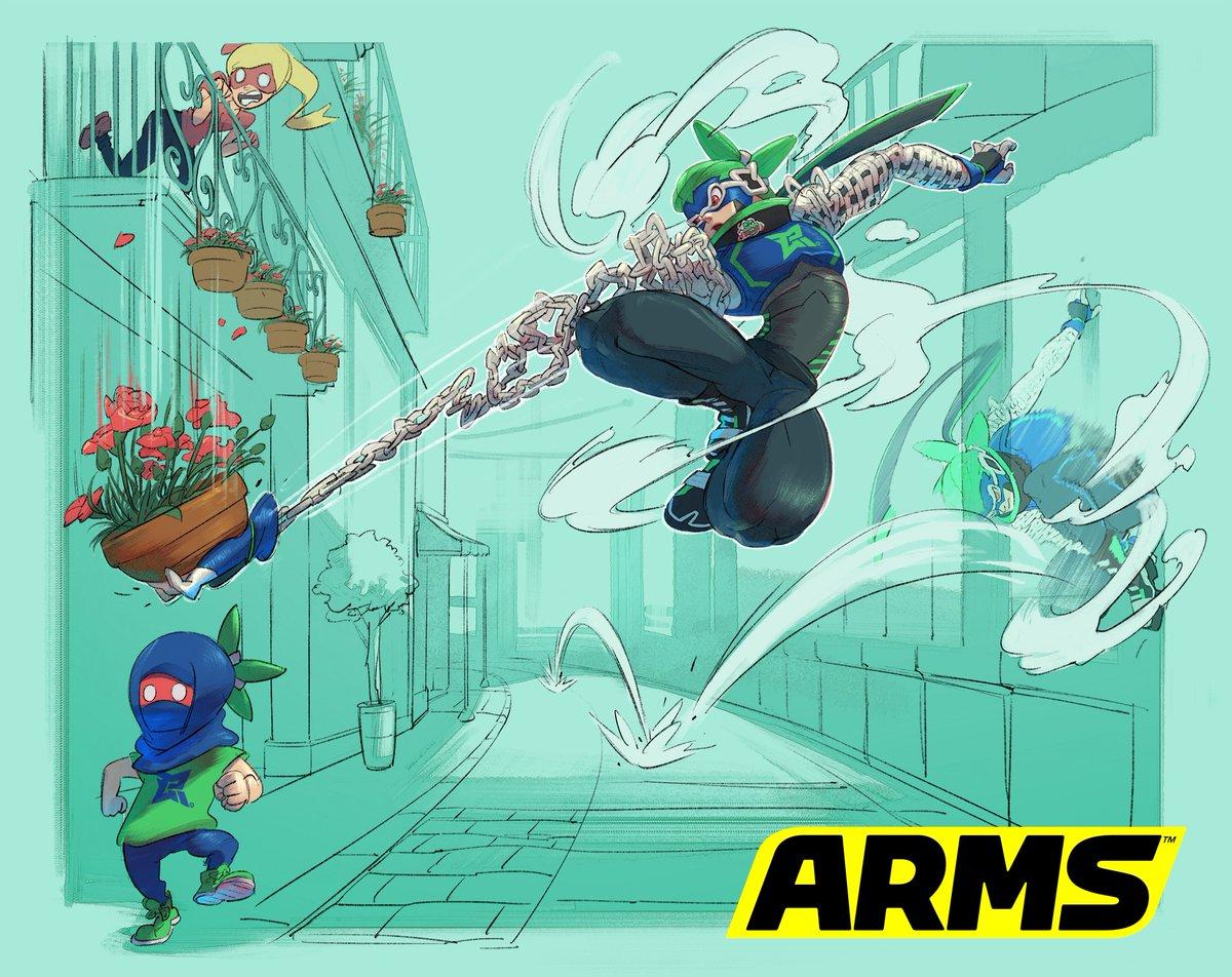 『ARMS』 ニンジャラのアートワークが公開!