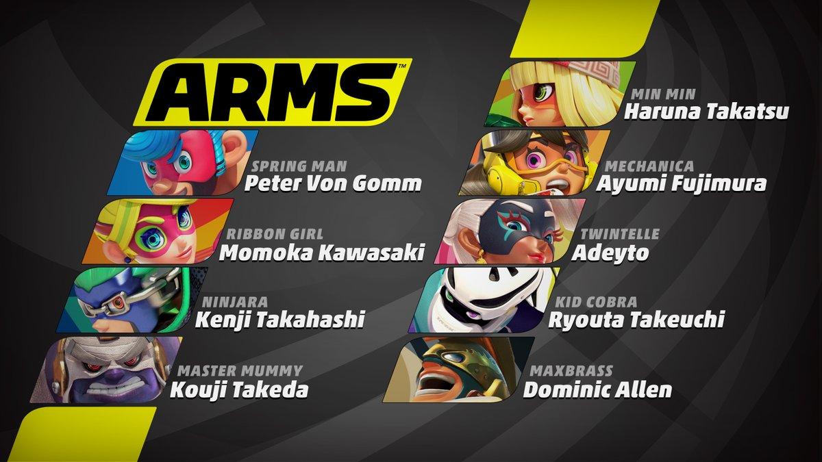 『ARMS』のキャラクターの声優が発表!