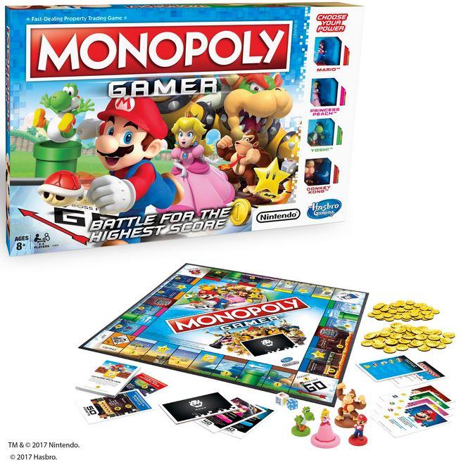 任天堂キャラクターがデザインされたモノポリー『Monopoly Gamer』が海外向けに発売決定!