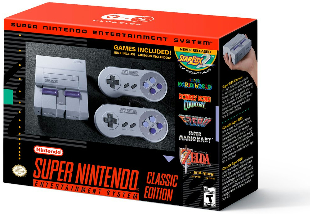 『Super Nintendo Entertainment System Classic Edition』が2017年9月29日に発売決定!
