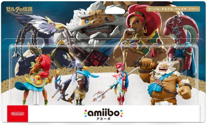 『ゼルダの伝説 ブレス オブ ザ ワイルド』に登場する四人の英傑amiiboの予約が開始!