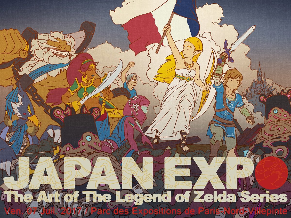 フランスのパリにて開催されているJAPAN EXPOで『ゼルダの伝説』のイラストが公開!