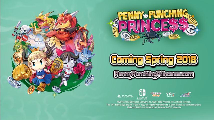 PSVitaで発売された『プリンセスは金の亡者 (Penny-Punching Princess)』がNintendo Switchで発売決定!