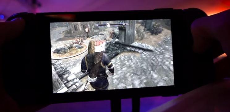 Nintendo Switch版『The Elder Scrolls V:Skyrim』の携帯モードによる実機プレイ動画が公開!