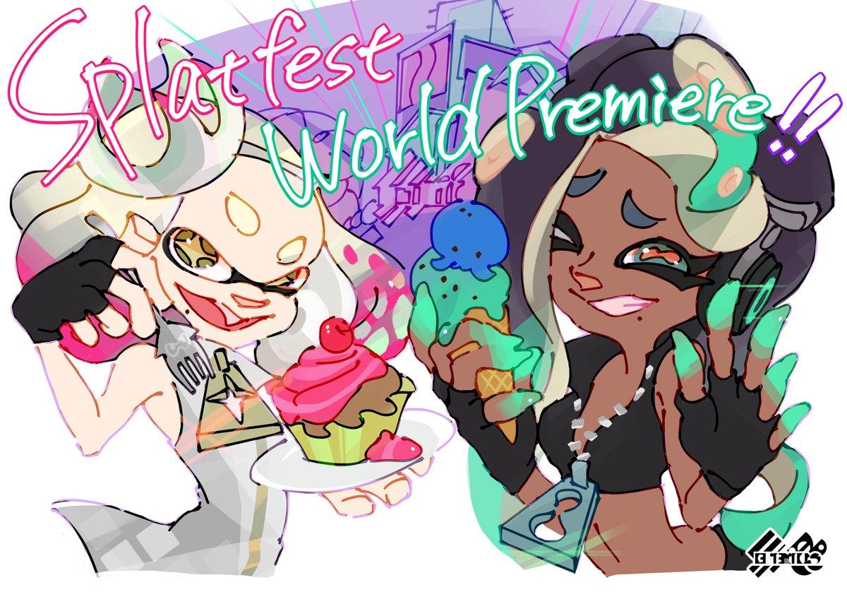 『スプラトゥーン2』の海外フェス「ケーキ」 VS 「アイスクリーム」のイラストが公開!