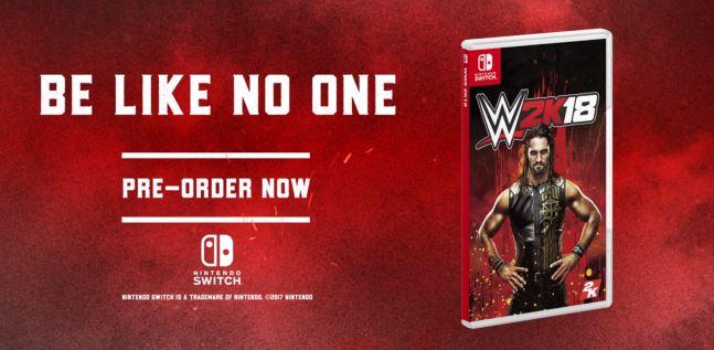 Nintendo Switch版『WWE 2K18』が発売決定!PS4&XboxOne版と同時リリースに