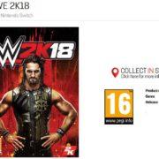 ゲーム小売店GamestopがNintendo Switch版『WWE 2K18』の商品ページを公開