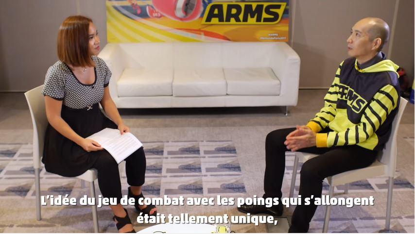 フランスのプロゲーマー・Kayaneさんが『ARMS』のプロデューサー矢吹光佑さんにインタビュー!