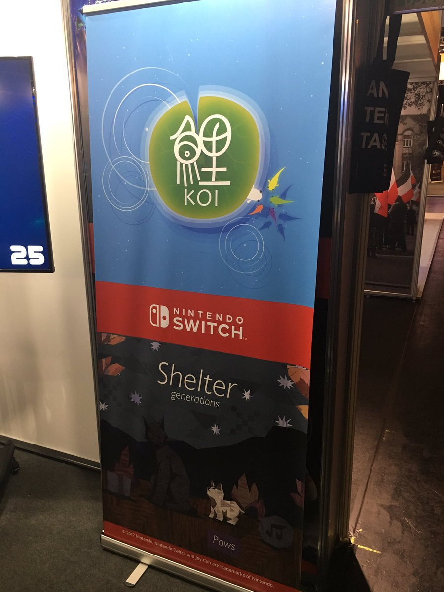 『鯉 – KOI』と『Shelter Generations』がNintendo Switchで発売決定!
