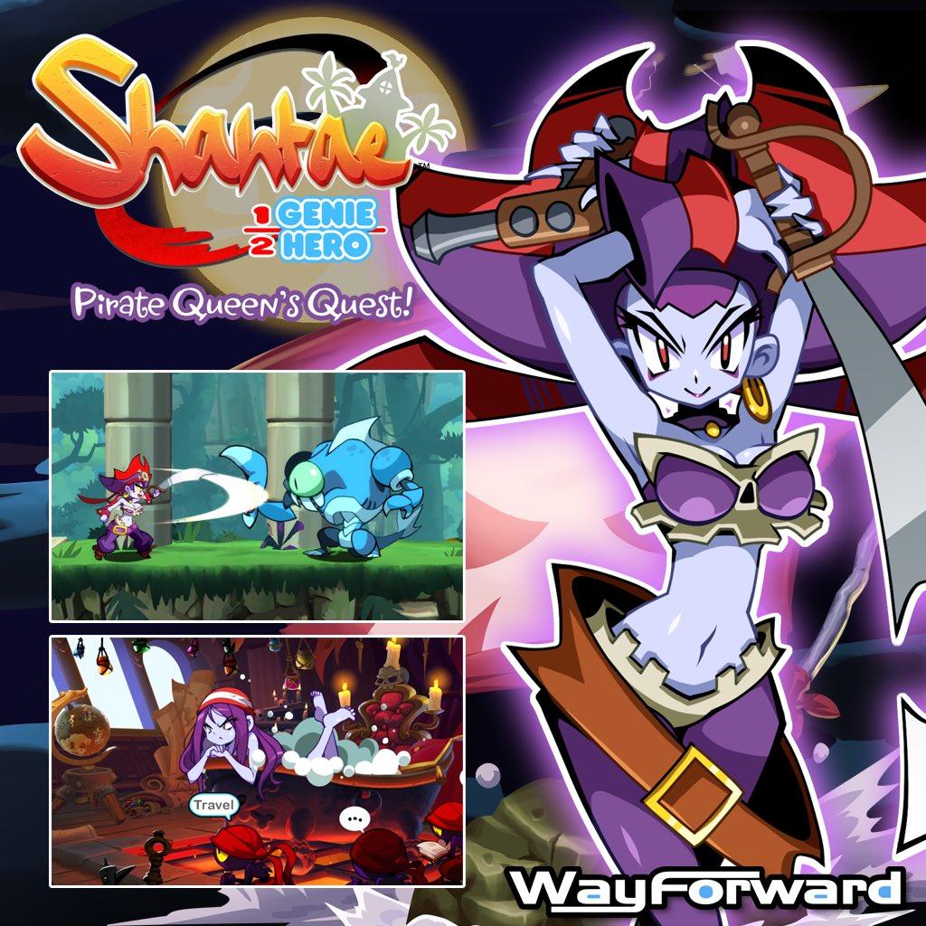 『Shantae(シャンティ):Half-Genie Hero』のDLC「Pirate Queen's Quest」の海外配信日が8月29日に決定!