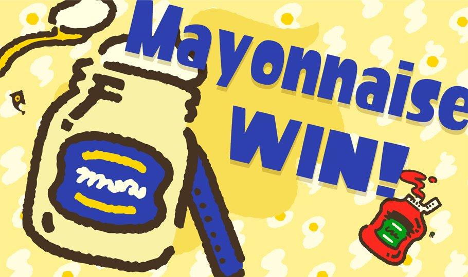 『スプラトゥーン2』 第1回フェス「どっちがお好き? マヨネーズ vs ケチャップ」の北米での結果