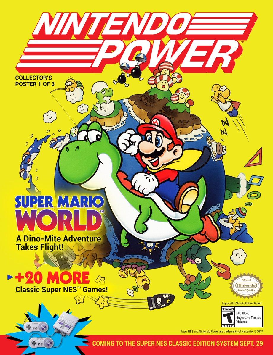 『Super NES Classic Edition』の「ニンテンドウパワー ポスター」が米任天堂の公式Twitterで公開!