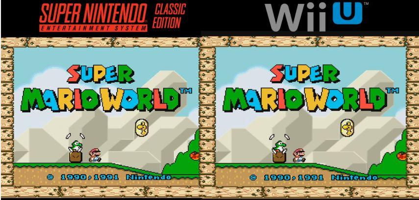 『Super NES Classic Edition』と『Wii Uバーチャルコンソール』の比較映像が公開!