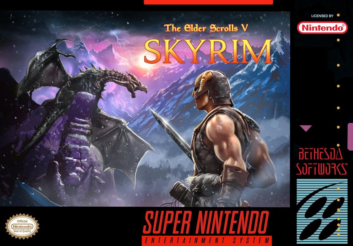 Super NES Classic Edition版『The Elder Scrolls V:Skyrim』のパッケージが公開!