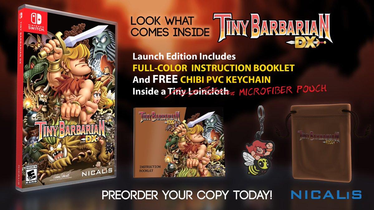 『Tiny Barbarian DX』の発売日が2017年10月10日に決定!紹介映像も公開!