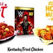 米KFCが『WWE 2K18』との提携を発表!ゲーム内に「カーネルおじさん」が登場
