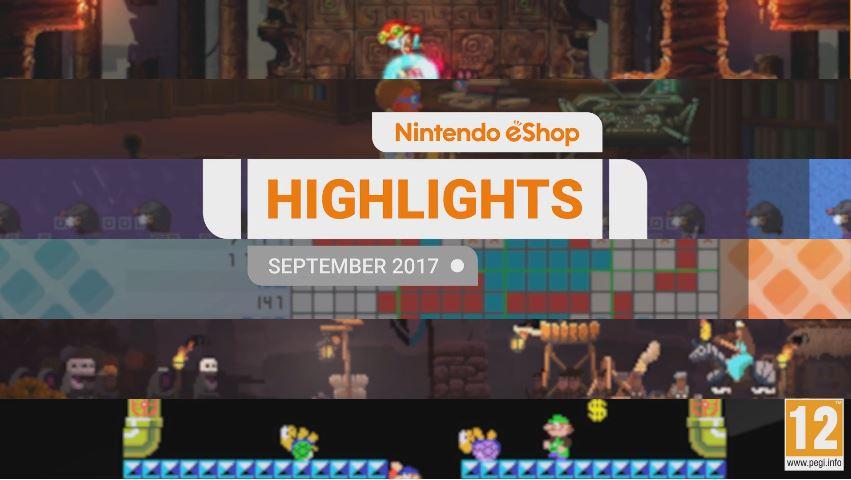 『Nintendo eShopハイライト 2017年9月』がNintendo UKから公開