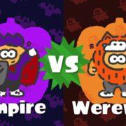 『スプラトゥーン2』 第3回北米フェスのお題は「吸血鬼」VS「狼男」!