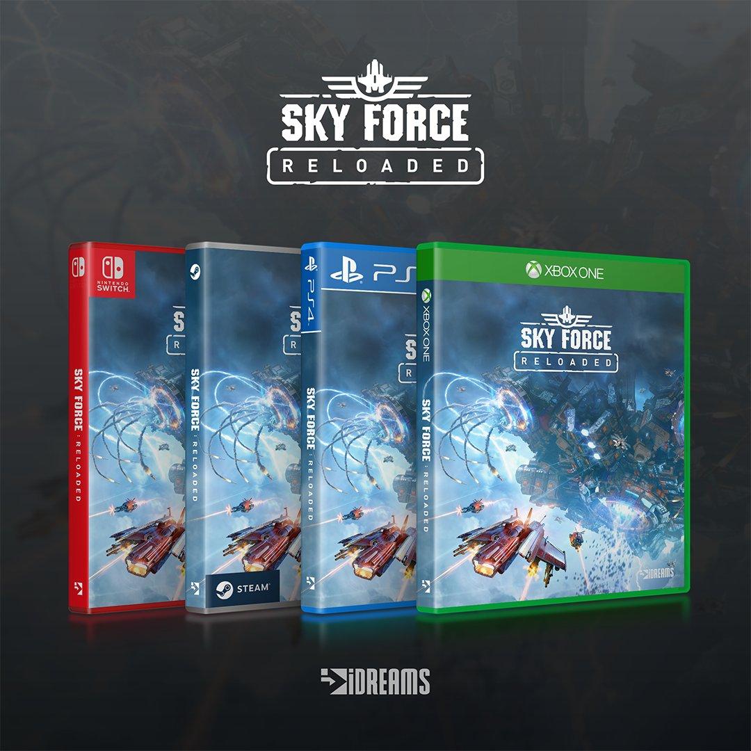 クラシックな縦スクロールシューティングゲーム『Sky Force Reloaded』がNintendo Switchで発売決定!