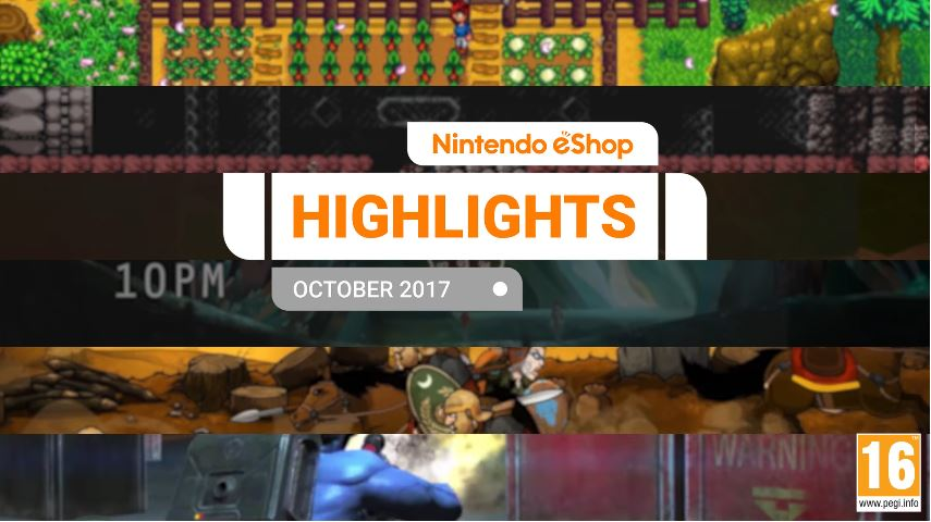 『Nintendo eShopハイライト 2017年10月』がNintendo UKから公開