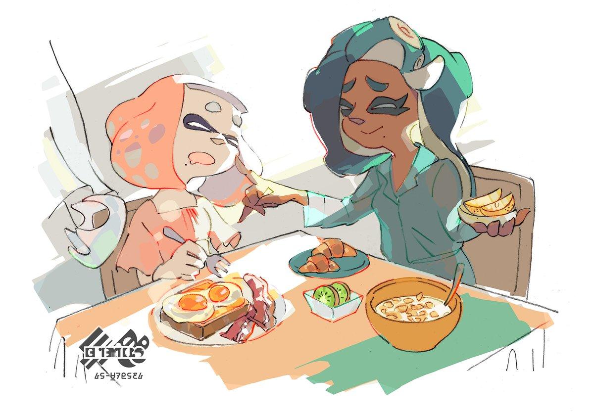 『スプラトゥーン2』 第4回ヨーロッパフェスのお題は「暖かい朝食」VS「冷たい朝食」のイラストが公開!