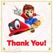 『スーパーマリオ オデッセイ』、米国では発売から5日間で110万本以上を販売!