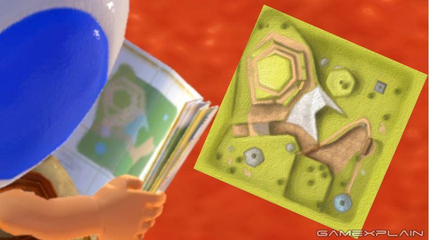 ヒントキノピオが持っている地図は過去のマリオのゲームと関係がある?