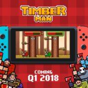 2Dアクション『Timberman』がNintendo Switchで発売決定!