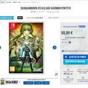 【噂】Switch版『ニューダンガンロンパV3』がフランスの小売業者に登録される