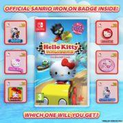 ハローキティのレースゲーム『Hello Kitty Kruisers』のパッケージ版には可愛らしいピンバッジが同梱!