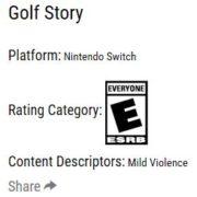 パッケージ版『Golf Story』がESRBによって評価!