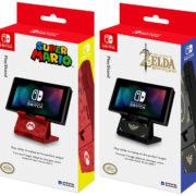 海外向けとしてHORIからマリオ&ゼルダデザインの『プレイスタンド for Nintendo Switch』が発売決定!