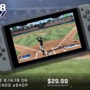 Switch版『R.B.I. Baseball 18』が国内でも6月に配信決定!実在メジャーリーガーが登場する3D野球ゲーム