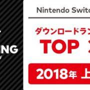 Nintendo Switch用ソフトの「2018年 上半期ダウンロードランキング」が公開!