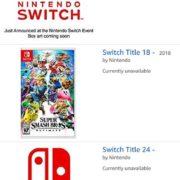Amazon.UKで多数のNintendo Switch向け謎タイトルが登場!【2018年8月】