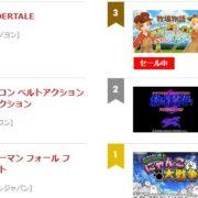 【日本】2018年9月20日~9月26日のSwitch eショップの売れ筋ランキングが公開!