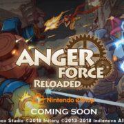 Switch版『AngerForce: Reloaded』が海外向けとして発売決定!アーケードライクのシューティングゲーム